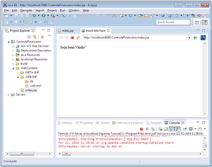 Alô Mundo Java Web - Eclipse 11