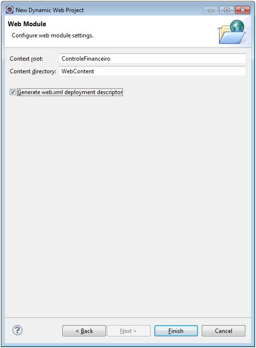 Alô Mundo Java Web - Eclipse 4