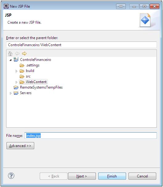 Alô Mundo Java Web - Eclipse 7