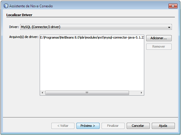 Criar DataSource MySQL no NetBeans02