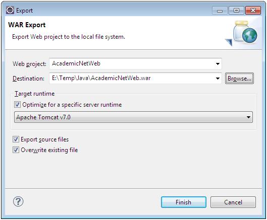 Exportando um projeto Web no Eclipse2