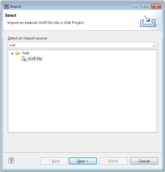 Importando um projeto Web no Eclipse1