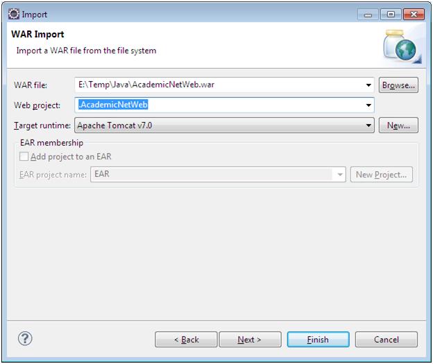 Importando um projeto Web no Eclipse2