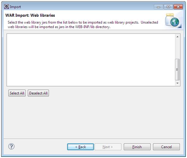 Importando um projeto Web no Eclipse3
